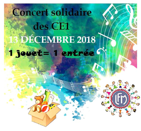 Concert solidaire CE1 2018